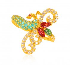 22K Gold Peacock Ring ( Ladies Signity Rings )