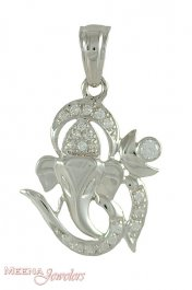 18Kt OM Vinayak pendant ( Ganesh, Laxmi and other God Pendants )