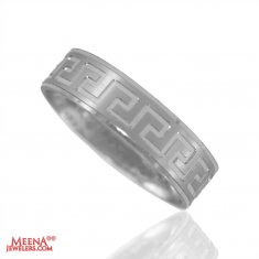 18Kt White Gold Wedding Band