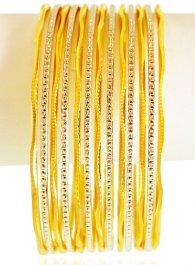 22 Karat Gold Two Tone Bangles Set ( Set of Bangles )