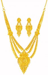 22k Layered Necklace Set