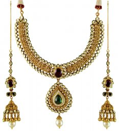 22K Gold Bridal Antique Set ( Bridal Necklace Sets )