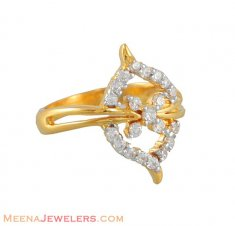 Gold Fancy Signity Ring ( Ladies Signity Rings )