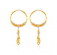 22karat Gold fancy Hoop Earrings ( Hoop Earrings )