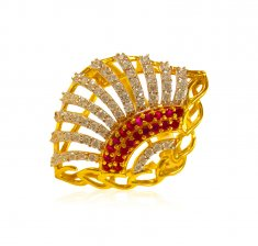 22kt Gold Ladies CZ Ring