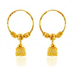 Hoop Earrings 22K Gold ( Hoop Earrings )