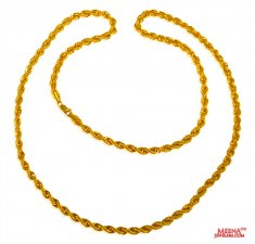 22 Kt hollow Rope Gold Chain ( Plain Gold Chains )