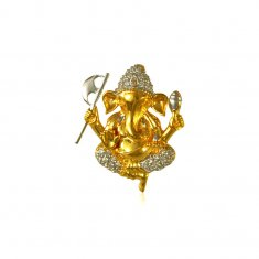 22 Kt Gold two tone Ganesh Pendant