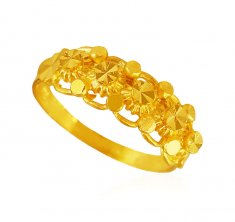 22K Yellow Gold Ladies Ring ( Ladies Gold Ring )