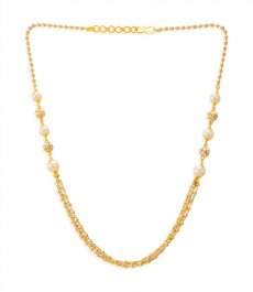 22kt Gold Pearls Chain ( 22Kt Gold Fancy Chains )