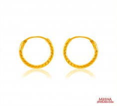 22 kt Gold Hoop Earrings