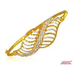 Ladies Rhodium 22K Gold Kada