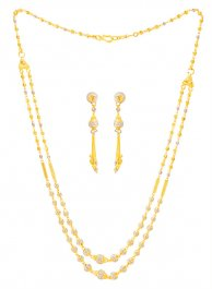 22Kt Gold Layered Necklace Set