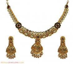Kundan Exclusive Necklace Set  ( Antique Necklace Sets )