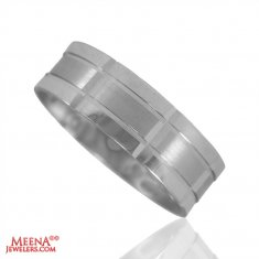 18Kt Designer White Gold Wedding Band