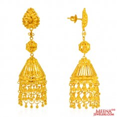 Jhumki Earrings 22 Karat Gold