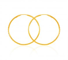 22Kt Yellow Gold Hoop Earrings ( Hoop Earrings )