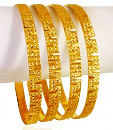 22KT Gold Machine Bangles (4 Pc) ( Set of Bangles )