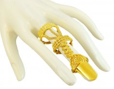 22K Traditional Layered Ring ( Ladies Gold Ring )