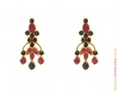 Combination Gold Earring ( Precious Stone Earrings )