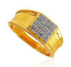 Designer Mens Genuine Diamond Ring ( Diamond Rings )