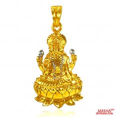 Goddess Laxmi Pendant in 22 K Gold ( Ganesh, Laxmi and other God Pendants )