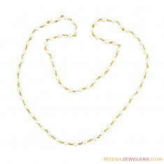 22K Gold Pearls Chain ( 22Kt Gold Fancy Chains )