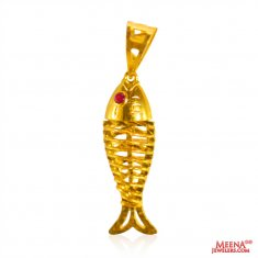 22 Kt Gold Fish Pendant ( Fancy Pendants )