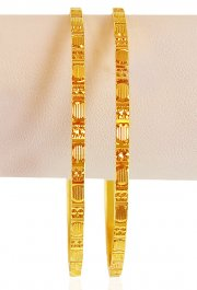 22kt Gold Machine Bangles (2 Pcs) ( Gold Bangles )