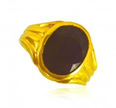22k Gold Blue Saphire Ring