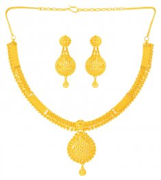 22kt Gold Filigree  Necklace Set