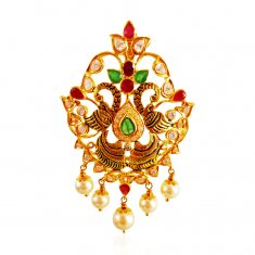 22KT Gold SouthIndian Style Pendant