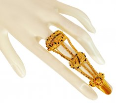 22K Gold Meenakari Nail Ring ( Ladies Gold Ring )