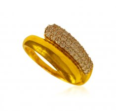 22KT Gold Signity Stone Ring ( Ladies Signity Rings )