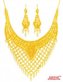 22kt Gold Necklace and Earring Set ( 22 Kt Gold Sets )