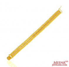 22Kt Gold Two Tone Bracelet