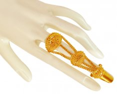 22K Gold Long Ring ( Ladies Gold Ring )