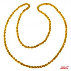 22 Kt Rope Gold Chain ( Plain Gold Chains )