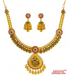 22 kt Temple Jewelery ( Antique Necklace Sets )