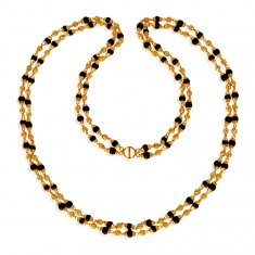 22K Gold Holy brown  Tulsi Mala ( 22Kt Long Chains (Ladies) )
