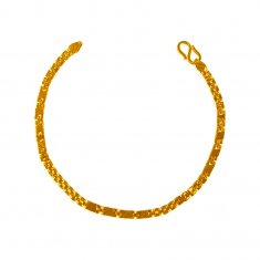 22K Gold Mens Fancy Bracelet