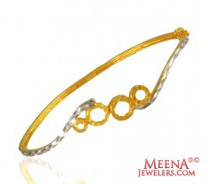 Fancy Two Tone Gold Bangles 22k