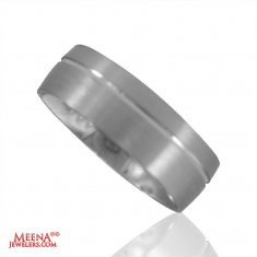 White Gold Wedding Band 18 kt