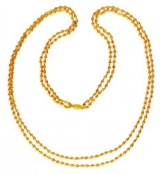 22K two Layered Chain (26 inch) ( 22Kt Long Chains (Ladies) )