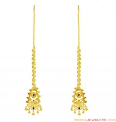 22K Meenakari Earrings ( Long Earrings )