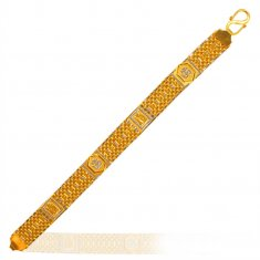 22Kt Gold Two Tone Bracelet ( Men`s Bracelets )
