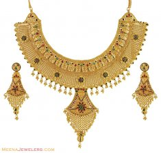 Indian Bridal Necklace Set (22 Kt) ( Bridal Necklace Sets )