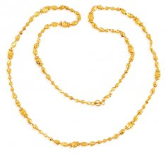 Long Gold Balls Chain (24 Inches) ( 22Kt Long Chains (Ladies) )
