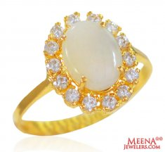 22k Yellow Gold Ladies Ring