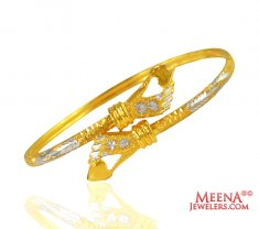 22K Fancy Ladies Cuff style Kada